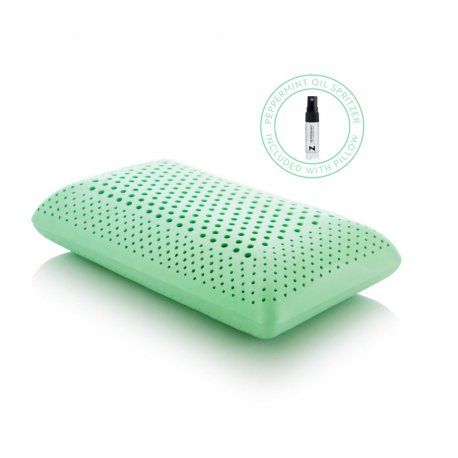 MALOUF PEPPERMINT AROMA SCENT MID LOFT QUEEN PILLOW