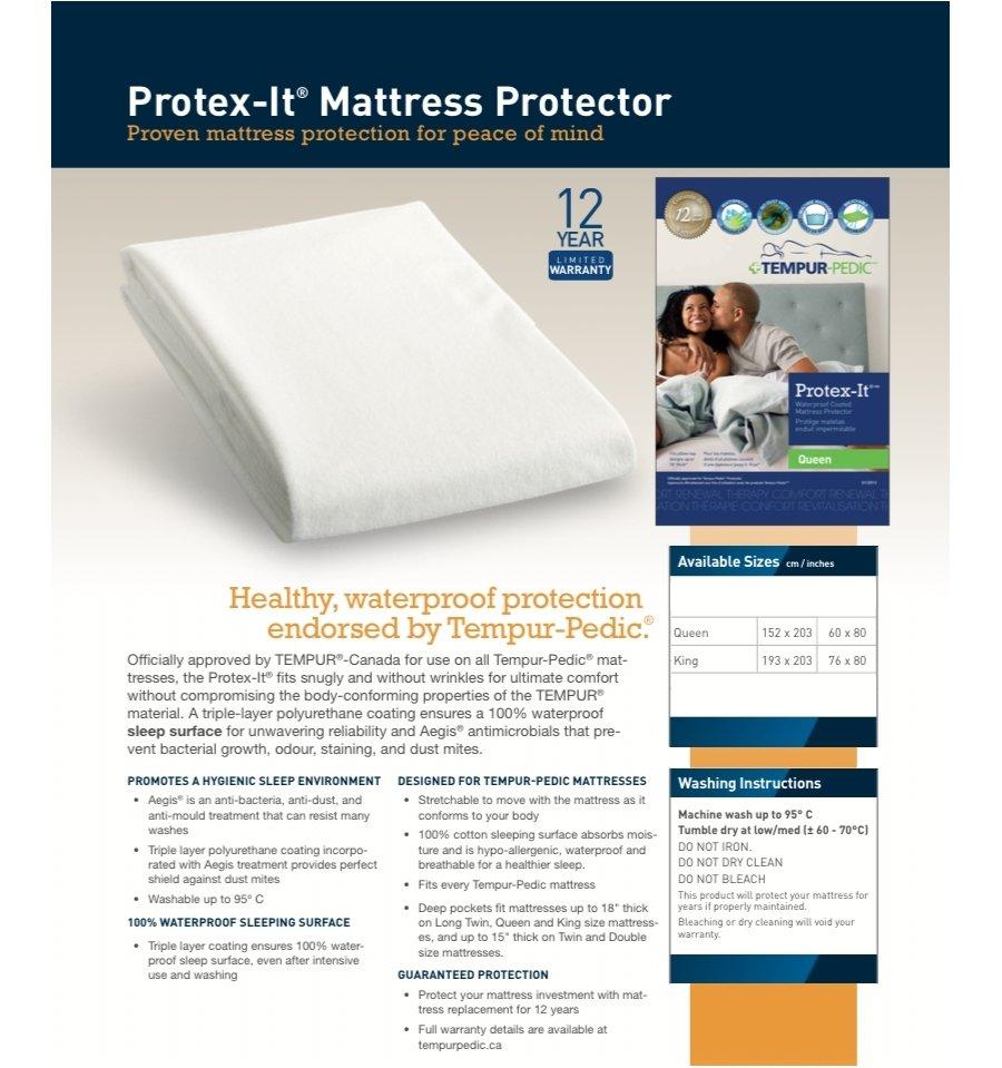 Tempurpedic Protex It Pad Furniture Superstore Edmonton Alberta Canada